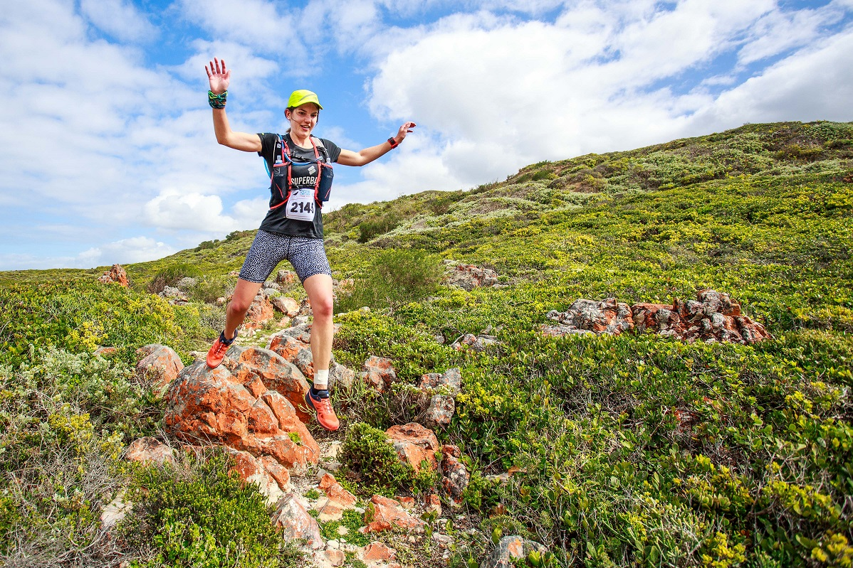 Runners compete in the Oyster Catcher 3 day trail run held at Gouritsmond in the Southern Cape of South Africa from 23 to 25 September 2016