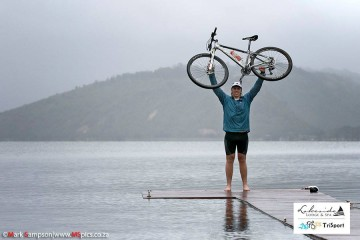 Athletes brave the weather at inaugural Lakeside Lodge Cross Triathlon